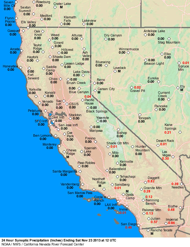 Map Of California Weather.Cnrfc Weather Observed Precipitation Maps