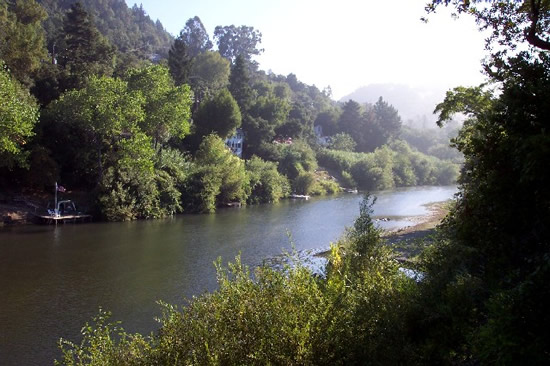 UPSTREAM PHOTOGRAPH - RUSSIAN RIVER - HEALDSBURG (HEAC1)