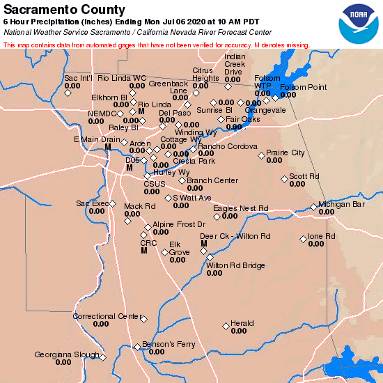 County Precipitation Map